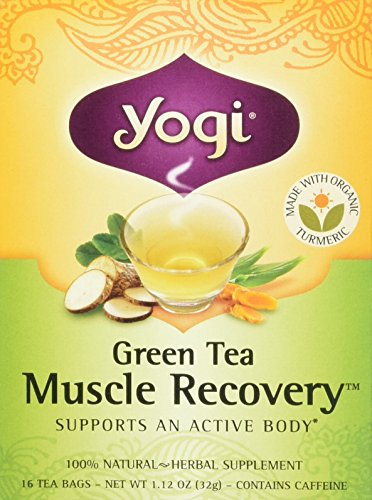 Yogi Tea Green Tea Muscle Recovery Tea Bags, Pack of 2 (Muscle Tea Green Recovery)