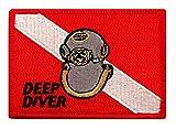 Mark V Helmet Deep Diver Down Flag Patch US Navy MK-5 Embroidered Iron On Scuba Diving Emblem Souvenir