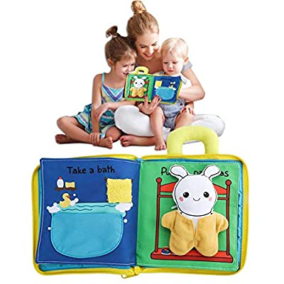 Shantan Premium Soft Baby Book Cloth Book,Fun Interactive Toy,Educational Learning Toy for Infant Fabric Baby Activity Crinkle Book for Baby Toddler Infant Travel Toys: Home & Kitchen