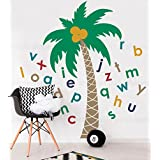Alphabet Palm Tree Wall Decal by Simple Shapes (scheme B)
