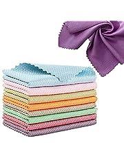 Pano de limpeza em nanoscale, panos de limpeza milagrosos, pano de limpeza de polimento de microfibra para escama de peixe, toalha absorvente multiuso reutilizável sem fiapos