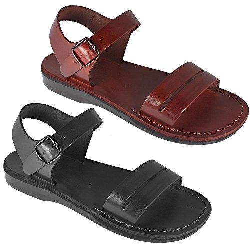 Sandalen, Braun, aus echtem Leder, Größen 35