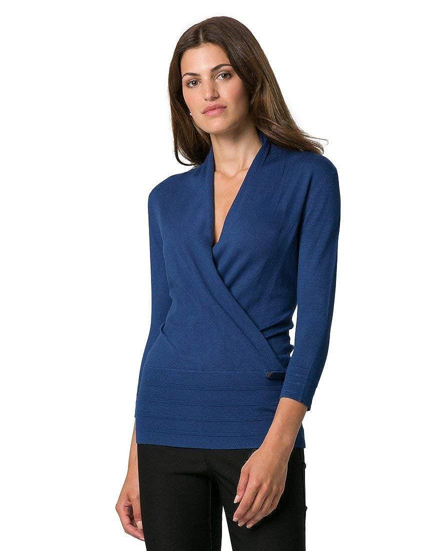 LE CHÂTEAU Women's Viscose Blend Faux Wrap Sweater 346127