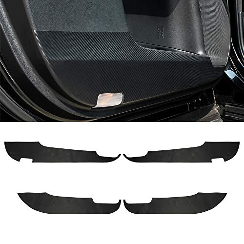 Senzeal Carbon Fiber Inner Door Anti Scratch Protector Sticker Cover Panel Fit for Toyota Highlander 2015 2016 2017 2018 -