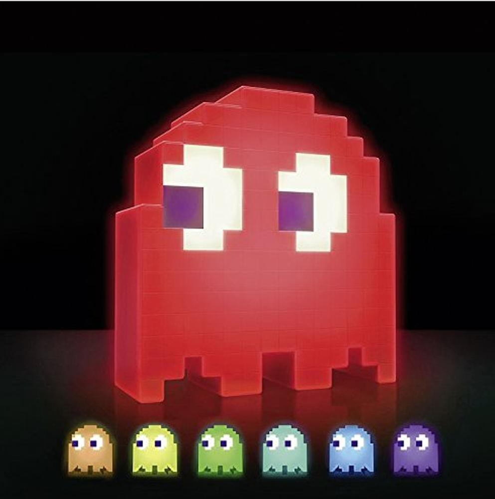 Pac-Man Lampe Ghost - 16 lámpara de Farben mesa Farben de lámpara de la noche mejor regalo Música inducción nightlight lámpara de noche decoración de la atmósfera del partido a6b952
