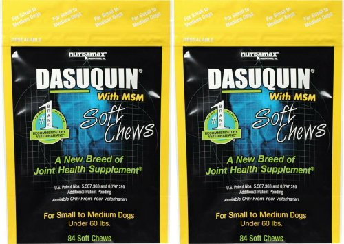 ValuePetSupplies Nutramax Dasuquin Soft Chews w/MSM for Medium Dogs 168ct (2 x 84ct) by ValuePetSupplies