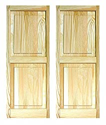 """Ltl Home Products Shp63 Exterior Window Raised Panel Shutters, 15"""" X 63"""""""