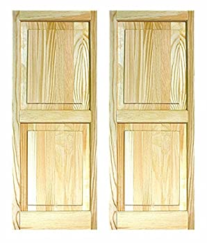 """Ltl Home Products Shp55 Exterior Window Raised Panel Shutters, 15"""" X 55"""" 0"""