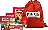 Milk-Bone Large Breed Dog Treat Bag, Variety Pack of 5, (Brushing Chews Dental Treat, Good Morning Vitamin Dog Treat, Healthy Favorites Chicken Dog Treat, Trail Mix Dog Treats, Original Dog Biscuits) For Sale