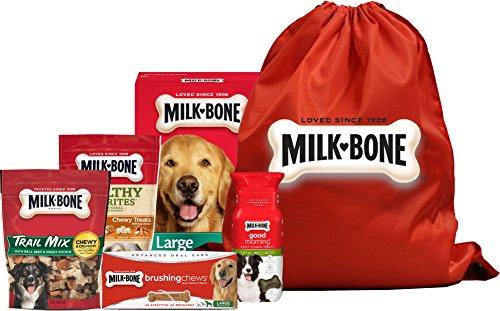 Milk-Bone Large Breed Dog Treat Bag, Variety Pack of 5, (Brushing Chews Dental Treat, Good Morning Vitamin Dog Treat, Healthy Favorites Chicken Dog Treat, Trail Mix Dog Treats, Original Dog (Bones Variety Pack)