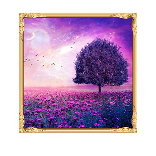 5D Diamond Painting Kit Full Drill,Lavany DIY 5D Diamond Paint By Number Kits Embroidery Rhinestone Pasted Wall Decor,Butterfly Flower Stamped Cross Stitch Kits (D)