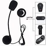 FreedConn Motorcycle Helmet Speakers Headset with Hard Corded Microphone for Motorcycle Communication Systems