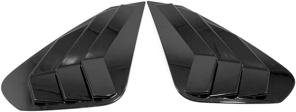 Bishop Tate Car Styling Carbon Style Rear Side Quarter Window Vent Scoop Louver Panel Cover Trim for Toyota RAV4 2019 2020