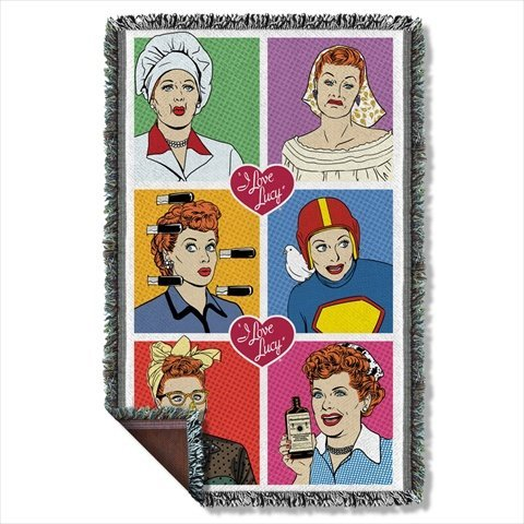 I Love Lucy Comic Strip Sublimation Woven Throw