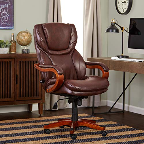 (Serta Bonded Leather Big & Tall Executive Chair,)