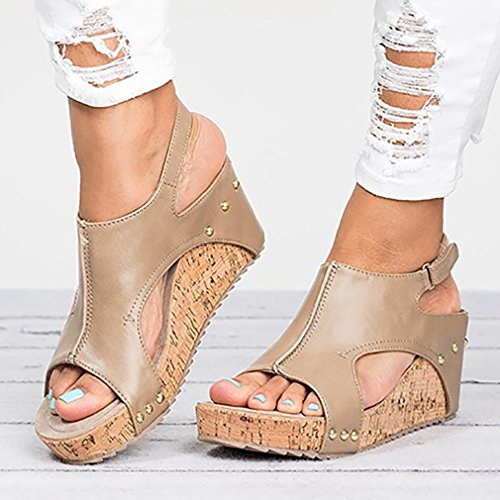Zapatos Moda De Playa Elegant Sandalias Peep jianhui Verano Toe Mujer Moda Zapatos Romanoas De Casuales Sandalias Zapatos q7Oxw6xHE
