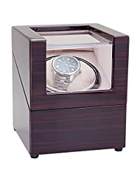 CHIYODA Wood Handmade Single Watch Winder with Quiet Motor-8 Speed Modes