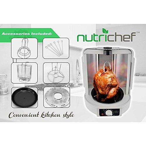 Nutrichef Vertical Rotisserie Oven Roaster Rotating