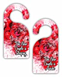The New Couple Is Awake/The New Couple is Sleeping - Wedding Party - Marraige - New Couple - Double-Sided Hard Plastic Glossy Door Hanger
