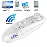 ANMKOT White Portable Wireless Bluetooth Remote Controller Gamepad For 3D VR Glasses Virtual Reality Headset PC Smartphones Compatible with Android,IOS System