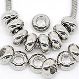 Ten (10) Charm Spacer for European Style Bracelet For Snake Chain Charm Bracelet