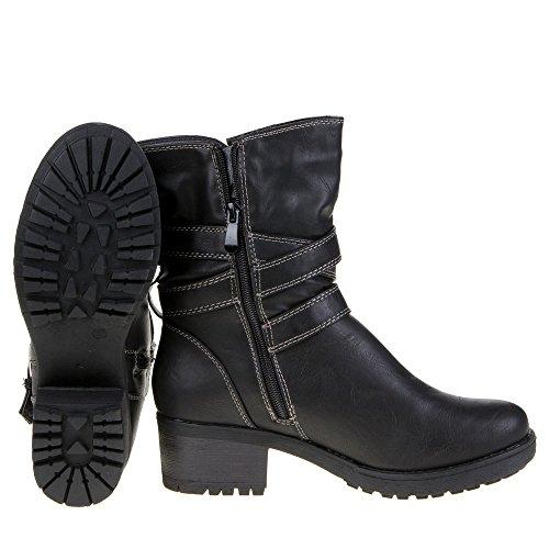 Damen Schuhe, IR-25, STIEFELETTEN Schwarz IR-25