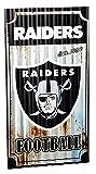 NFL Oakland Raiders Corrugated Metal Wall Art, Small, Multicolored