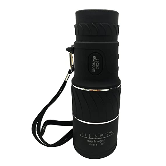 Genned Monocular Telescope, Compact Monocular, 16x52 Waterproof Dual Focus Monocular Telescope for Bird Watching Hunting Camping Travelling Wildlife Secenery