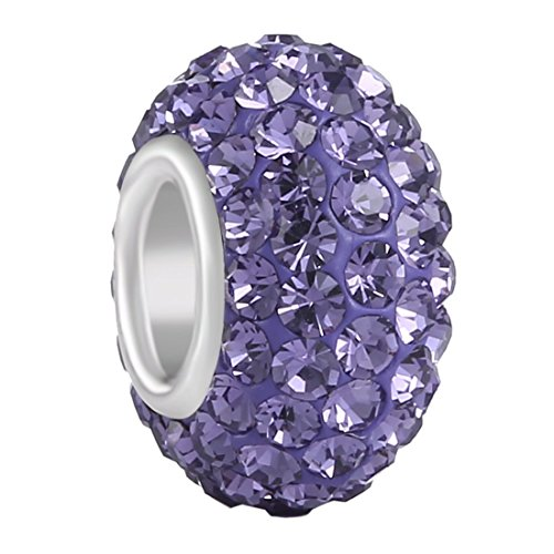 - Aurora Charm 925 Sterling Silver JUNE Birthstone Charms Swarovski Elements Czech Crystal Alexandrite Lavendar Beads Spacers Fit Chamilia Bracelet