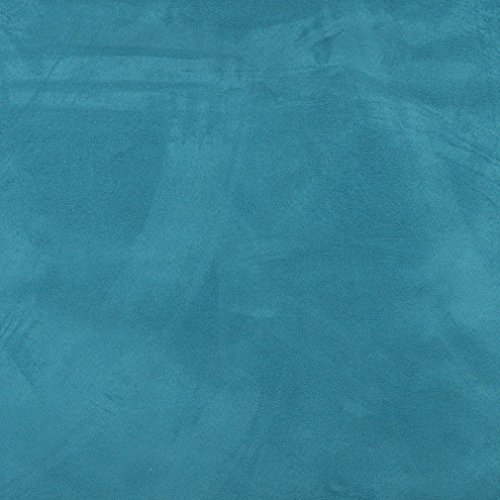 C097 Turquoise Solid Microsuede Microfiber Contemporary Upholstery Grade Fabric by The Yard (Microfiber Material)