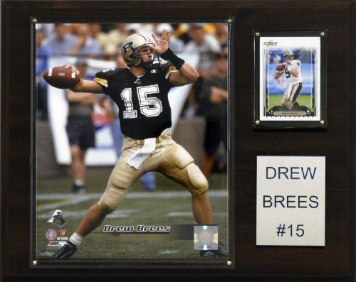 (NCAA Football Drew Brees Purdue Boilermakers Player Plaque)