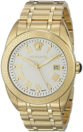 Versace Men's VFE150015 V-Sport Analog Display Quartz Gold Watch