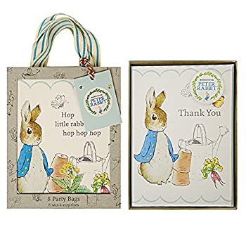 Meri Meri Party Pack - Peter Rabbit Party Bags (S/8) and Peter Rabbit Boxed Thank You Cards (S/8)
