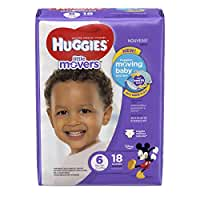 HUGGIES Little Movers Diapers, Size 6, 18 Count