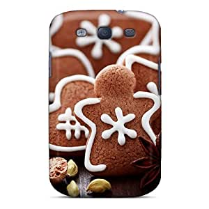 Fashion Tpu Case For Galaxy S3- Gingerbread Figures Defender Case Cover