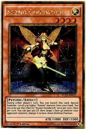 1st Edition Kozmo Goodwitch Gold Secret Rare PGL3-EN025