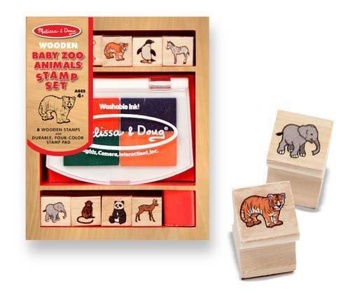 (MELISSA & DOUG Baby Zoo Animal Stamp Set, 1 EA)