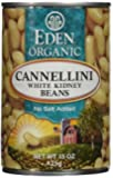 Eden Organic Cannellini White Kidney Beans, No Salt Added, 15-Ounce Cans (Pack of 12)