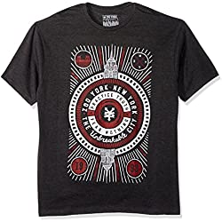 Zoo York Men's Short Sleeve Refuge T-Shirt, Black Heather, Small