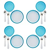 OXO Tot 4 Piece Feeding Set, Aqua (4 Pack)