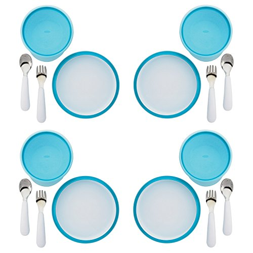 OXO Tot 4 Piece Feeding Set, Aqua (4 Pack) by OXO (Image #6)