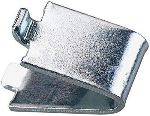 - 20 Knape Vogt, 239, Heavy Duty, Pilaster Clips, Steel, Zinc Plated, For Solid Shelf