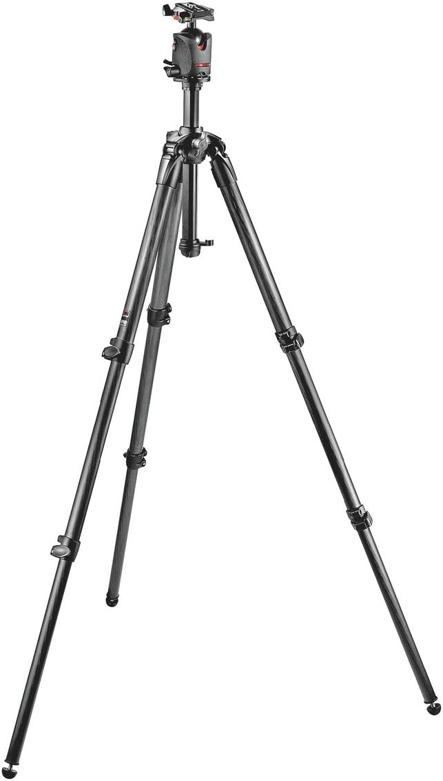 Manfrotto 057 Carbon Fiber 3-Section Tripod Kit with Ball Head (MK057C3-M0Q5)