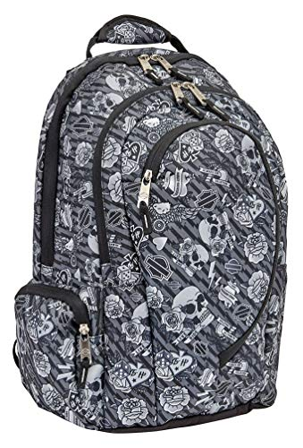 Harley Davidson Backpack, Gray Tattoo, One Size