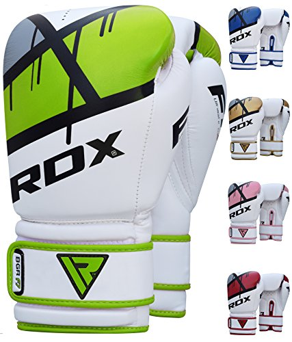 RDX Boxing Gloves Ego Muay Thai Training Maya Hide Leather Sparring Punching Bag Mitts kickboxing Fighting