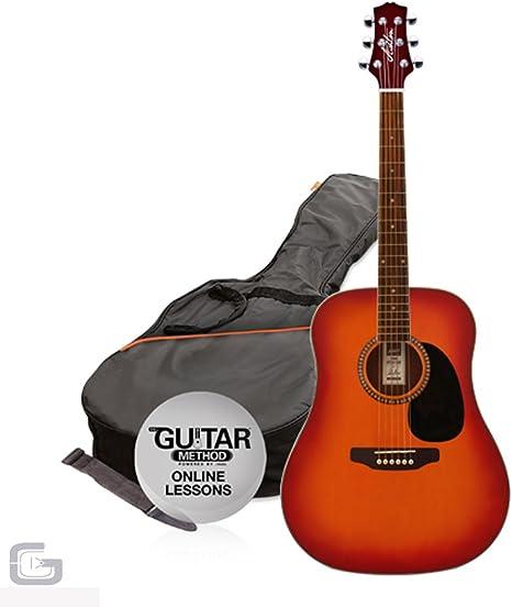 Ashton spd25 TSB – Guitarra acústica, con bolsa y correa: Amazon ...