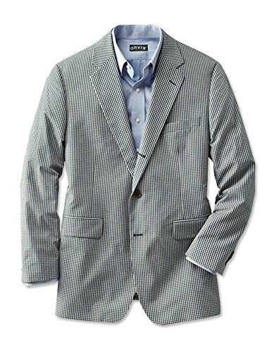 - Orvis Wrinkle-Free Gingham Sport Coat/Regular, 42 Blue