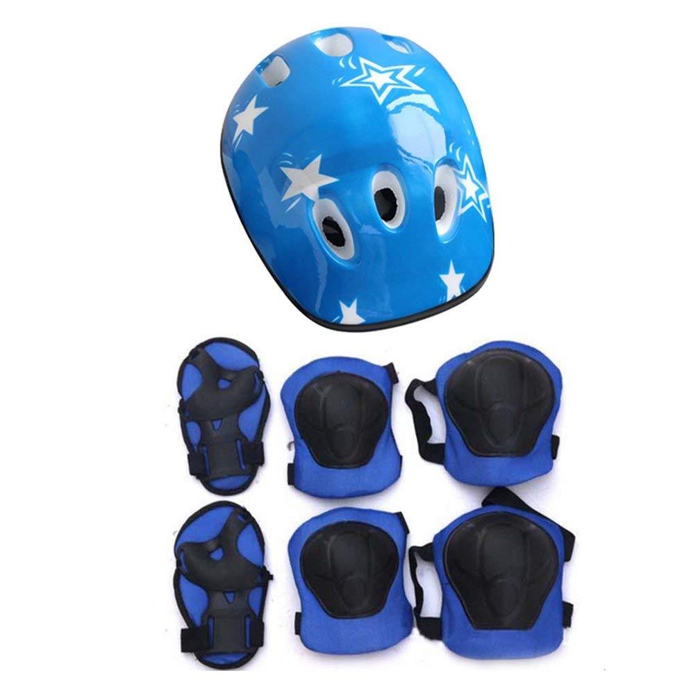 Oyamihin 7 UNIDS/Set Universal Niños Niños Conjunto de Equipo de Protección Scooter Cómodo Scooter Skate Roller Ciclismo Almohadillas de Rodillas Elbow Pads Set