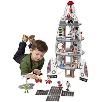 Hape Discovery Spaceship and Lift-Off Rocket