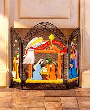 Decorative Fireplace Screens ( Nativity ) by Unique's Shop